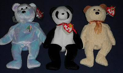 Benie Baby Fortune Huggy Four Seasons Hotel Lot of 3