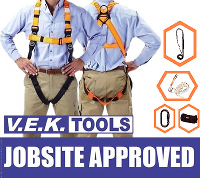 Linq Construction Roofers Roof Safety Harness Combo Kit-Aus Jobsite Nbn Approved