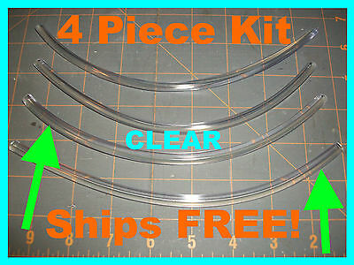 PROTECTOR trim (4 piece kit)  8'' CLEAR car DOOR EDGE GUARDS fits: (Chevy)