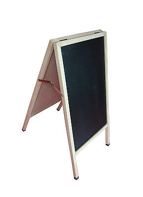 Double Sided Sidewalk Pavement A-Frame CHALKBOARD Restaurant Sign Menu Board