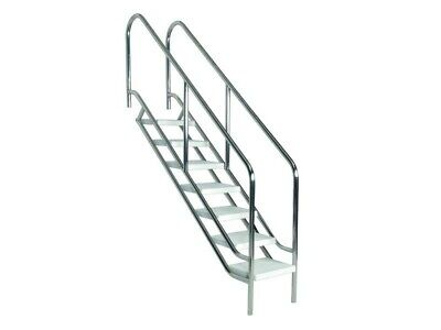 Schwimmbad-Treppe DELUXE 5-stufig aus V4A Pooltreppe Pool Schwimmbadtreppe