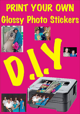 DIY Adhesive Glossy Photo Paper 1 Sheet for Inkjet print great photos & stickers