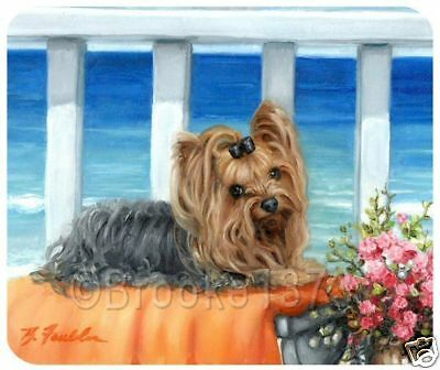 Yorkshire Terrier mouse pad Yorkie dog ART on mousepad