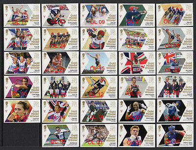 GB London Olympics 2012 Gold Medal Winners Fine Used singles