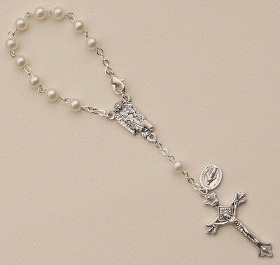 Guardian Angel Car Rearview Mirror Rosary (Italy)