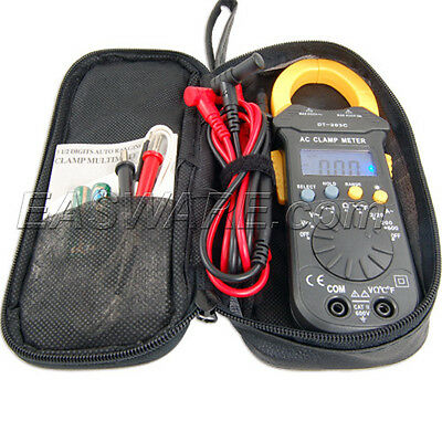 600A Auto HVAC Digital Clamp Multi Thermo Meter Tester+Zip Carry Case