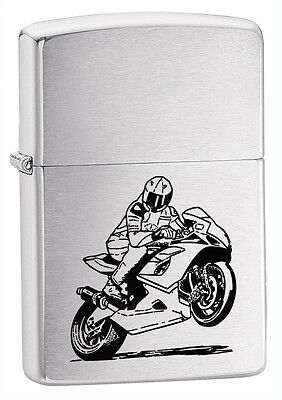 Zippo Lighter Motorcycle Personalised Engraved Free