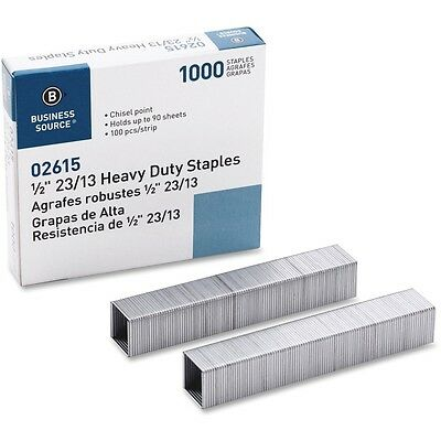 "Business Source 02615  Heavy Duty Staples 3/8"" Leg Pack of 1000"