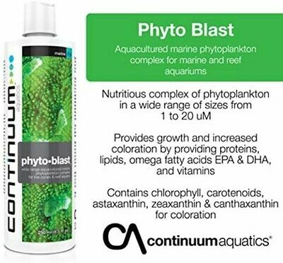PHYTO BLAST PLANKTON FOR CORALS IN REEF AQUARIA  250ml (High Quality)
