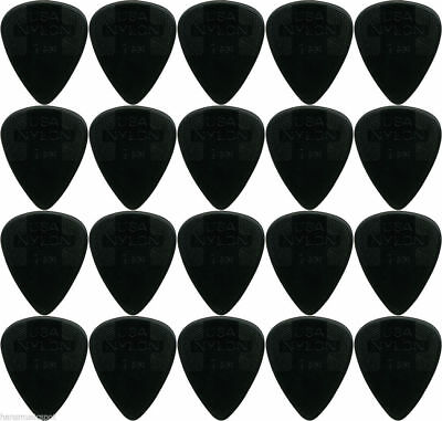 "20 x Jim Dunlop Nylon Standard ""Greys"" 1.0MM Gauge Guitar Picks *NEW* Bulk"