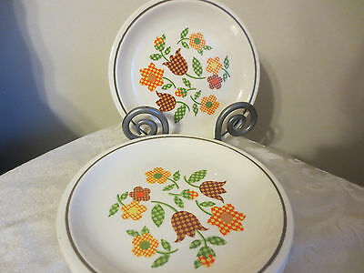 4 Taylor Smith & Taylor Gingham Garden salad or dessert  plates