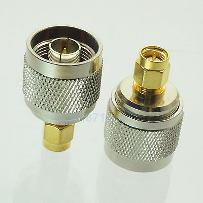 1pce Adapter N plug male to SMA male RF connector straight