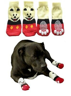 Dog Socks Non Slip S M L XL Red Panda - Pet Cat Puppy Paw Floor Protection Shoes
