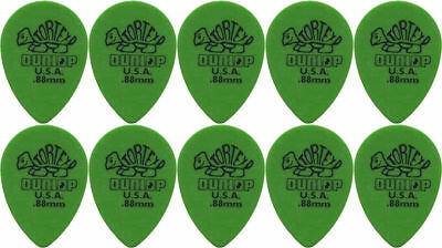 10 x Jim Dunlop Tortex Small Tear Drop .88MM Gauge Guitar Picks *NEW* Teardrop
