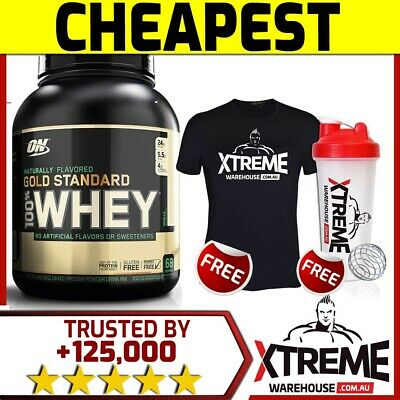 Optimum Nutrition 100% Natural Whey Vanilla Gold Standard Protein 5Lb Wpi Wpc