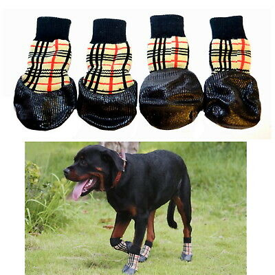 Dog Socks  Waterproof Non-Slip S M L XL Tartan - Puppy Cat Pet Shoes Slippers