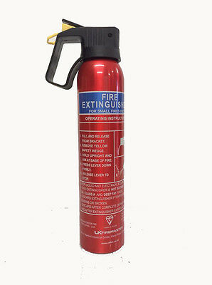 600g Fire Extinguisher Flame Retardant Dry Powder Ideal For Car Van Home