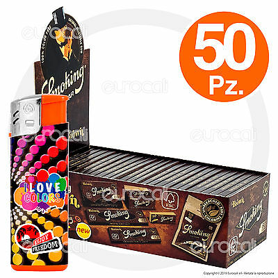 3000 Cartine SMOKING BROWN Corte 50pz Senza Cloro Non Sbiancate - 1 Box