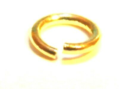 """9ct Yellow Gold Jump Ring """"Open"""" 5mm -Findings-Jump Rings-Beads-Jewellery Making"""