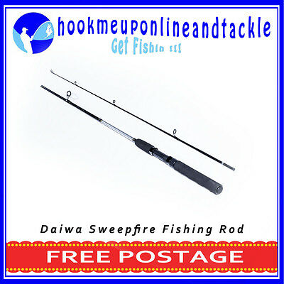 Daiwa Sweepfire 2 Piece Fishing Rod 1.80mt Saltwater Freshwater Spinning