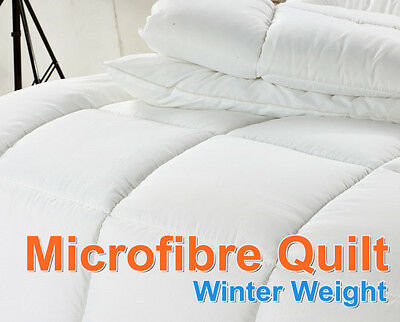 Microfibre Winter Weight Quilt Single/Double/Queen/King/Super King Washable