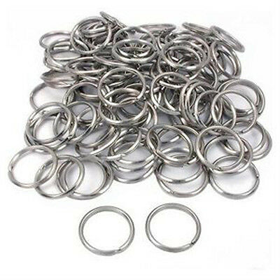 "Lot 1000 pc New 1"" 24 mm Split Rings Key Rings Keyrings Full Circle"