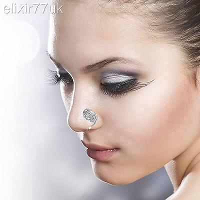 Fab Gold Silver Fake Non Piercing Swirly Clip On Nose Ring Ear