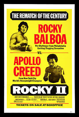Rocky Ii - Sylvester Stallone - Movie Poster Print - Looks Awesome Framed