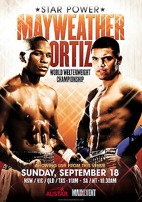 Floyd Mayweather V Victor Ortiz-  - Boxing Poster Print - Looks Awesome Framed