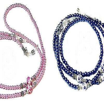 Reading Eye glasses spectacle holder lanyard - Porcelain and Pearl Collection