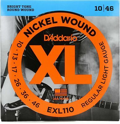 D'Addario EXL110 Nickel Wound, Regular Light, 10-46 Electric Guitar Strings