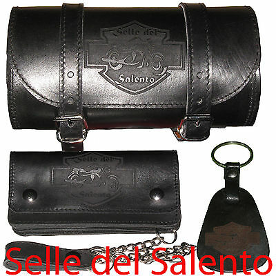 Barilotto Portachiavi Portafoglio Biker Wallet Leather geldbörse wallet with cha