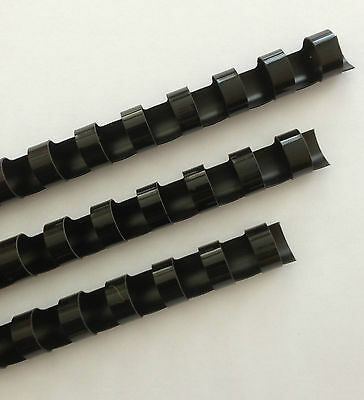 "1/4"" Plastic Binding Combs - ""BLACK"" - Set of 25"