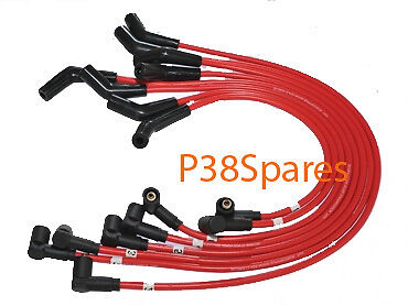 Range Rover P38 1999-2002 V8 full Set of RED Silicone Ignition HT Leads X8 *NEW*