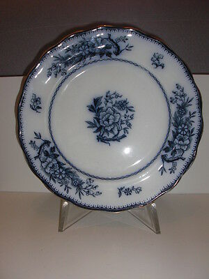 Vintage Burleigh Ware Stratford Burslem England Plate Blue and White 25 cm