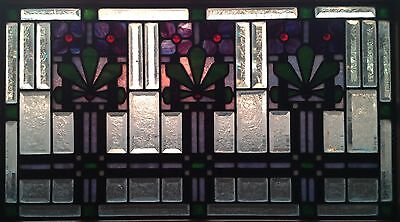 Antique Art Deco Leaded Stained and Beveled Glass Window