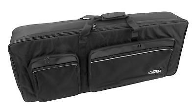 PADDED KEYBOARD GIGBAG CARRY CASE BAG BACKPACK 4 POCKETS 102 x 40 x 14 CM BLACK