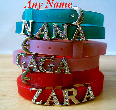 Personalised Name Children kids New Bracelet /wristbands gift - Party favours