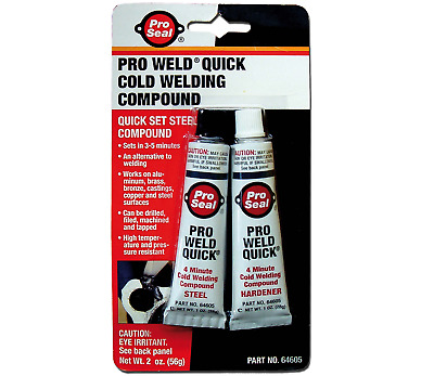 PRO SEAL Pro Weld Quick Cold Welding Compound 2x28g for Brass, Bronze, Aluminum