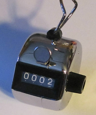 Tally Counter Manual Clicker Mechanical Golf Sport Lap School Church Count New