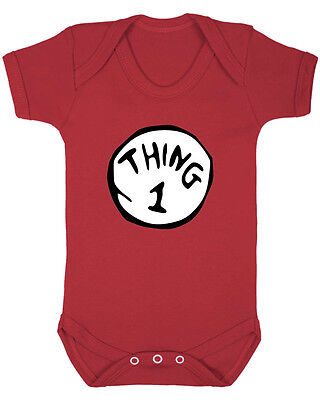 Thing 1, Thing 2, Thing 3 & Thing 4 Baby Vest. Sold Separately. Funny Baby Vest.