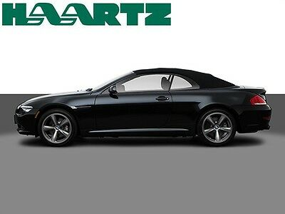 BMW 6 Series 2004-10 Convertible Soft Top Replacement E64 Factory Material Black