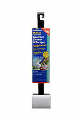 Penn Plax Wizard Heavy Duty Algae Cleaner & Scraper Pad for Acrylic Aquariums