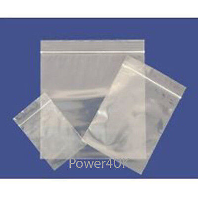 Grip Strong Self Seal Clear Plain Resealable Polythene Plastic Bags MULTILISTING