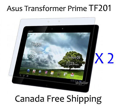 2 Clear Glossy Cover Screen Protector ASUS Eee Pad Transformer Prime TF201 10.1