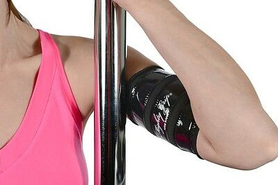 Mighty Grip 2 Black Upper Arm Protectors for Pole Dancing with Tack strips