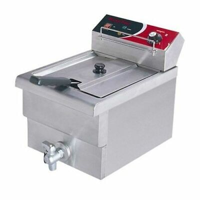 Benchtop Deep Fryer, Single Vat 7.5L 10AMP, Cold Zone, Commercial Grade