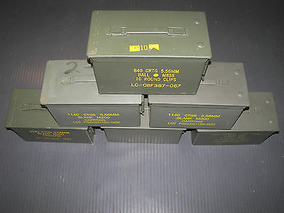 SURPLUS M2A1 50 CAL AMMO CANS - LOT OF 3 - BACK IN STOCK SO GRAB THEM NOW!