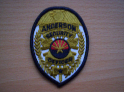 Aus USA Anderson Security  Officer  ca 8 x 6 cm