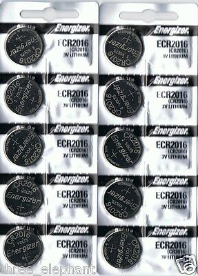 10 New ENERGIZER CR2016  CR 2016 Lithium 3v Coin Battery AUSSIE Stock FAST POST
